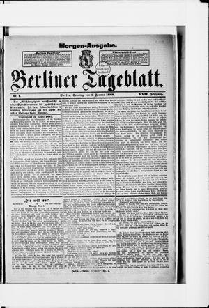 Berliner Tageblatt und Handels-Zeitung vom 01.01.1888