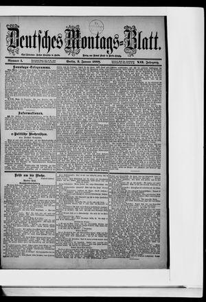 Berliner Tageblatt und Handels-Zeitung vom 02.01.1888