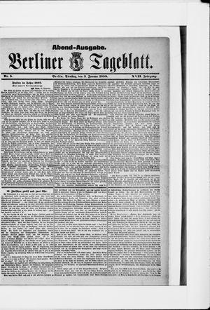 Berliner Tageblatt und Handels-Zeitung vom 03.01.1888
