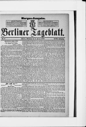 Berliner Tageblatt und Handels-Zeitung vom 04.01.1888