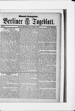 Berliner Tageblatt und Handels-Zeitung vom 05.01.1888