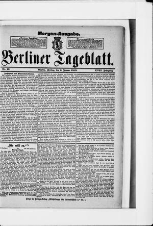 Berliner Tageblatt und Handels-Zeitung vom 06.01.1888