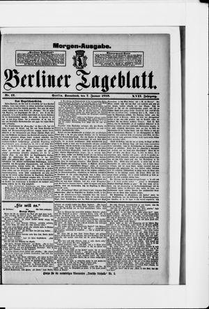 Berliner Tageblatt und Handels-Zeitung vom 07.01.1888