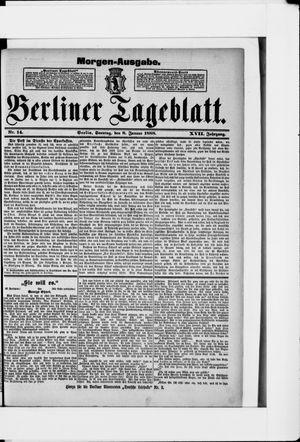 Berliner Tageblatt und Handels-Zeitung vom 08.01.1888
