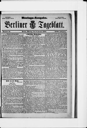 Berliner Tageblatt und Handels-Zeitung vom 09.01.1888