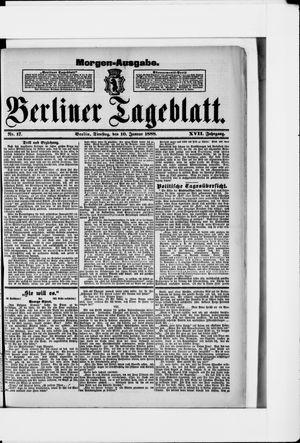 Berliner Tageblatt und Handels-Zeitung vom 10.01.1888