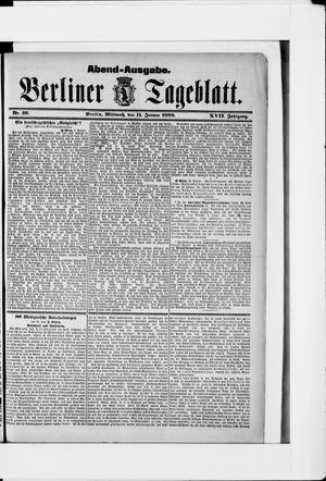 Berliner Tageblatt und Handels-Zeitung vom 11.01.1888