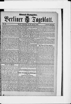 Berliner Tageblatt und Handels-Zeitung vom 12.01.1888