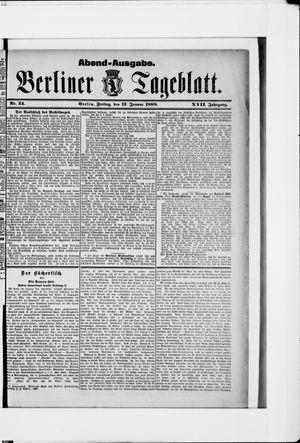 Berliner Tageblatt und Handels-Zeitung vom 13.01.1888
