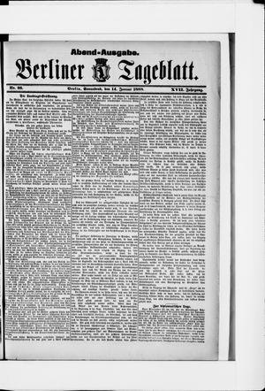 Berliner Tageblatt und Handels-Zeitung vom 14.01.1888