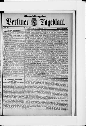 Berliner Tageblatt und Handels-Zeitung vom 16.01.1888