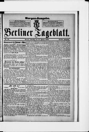 Berliner Tageblatt und Handels-Zeitung vom 17.01.1888