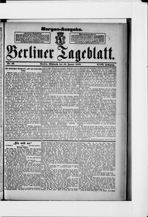 Berliner Tageblatt und Handels-Zeitung vom 18.01.1888