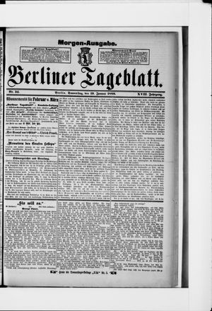 Berliner Tageblatt und Handels-Zeitung vom 19.01.1888