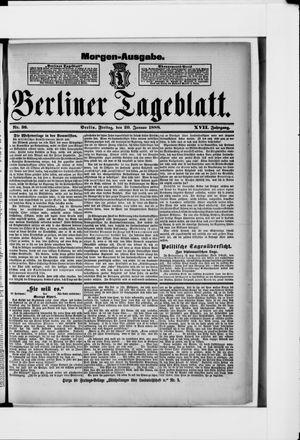 Berliner Tageblatt und Handels-Zeitung vom 20.01.1888