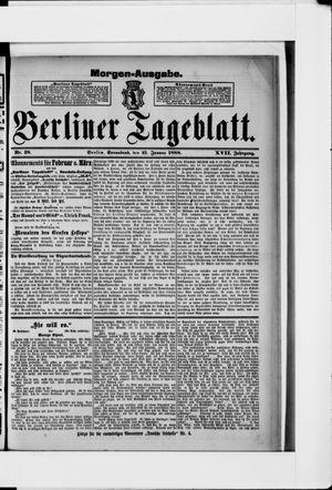 Berliner Tageblatt und Handels-Zeitung vom 21.01.1888