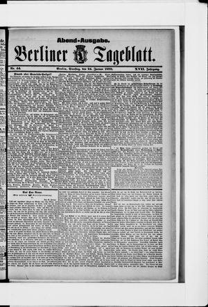 Berliner Tageblatt und Handels-Zeitung vom 24.01.1888