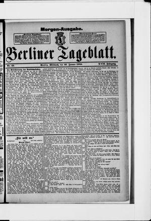 Berliner Tageblatt und Handels-Zeitung vom 25.01.1888