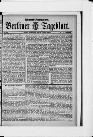 Berliner Tageblatt und Handels-Zeitung vom 26.01.1888