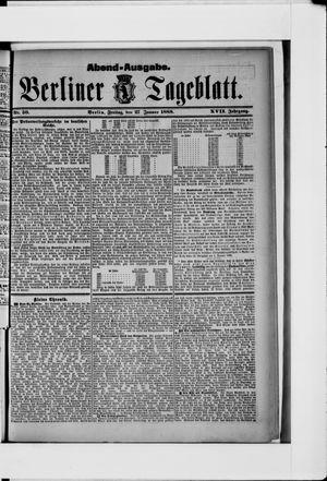 Berliner Tageblatt und Handels-Zeitung vom 27.01.1888