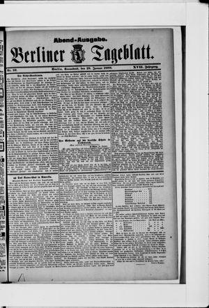 Berliner Tageblatt und Handels-Zeitung vom 28.01.1888