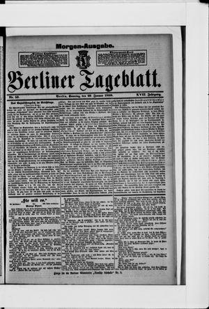 Berliner Tageblatt und Handels-Zeitung vom 29.01.1888