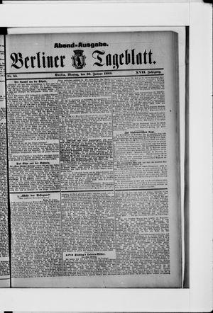 Berliner Tageblatt und Handels-Zeitung vom 30.01.1888