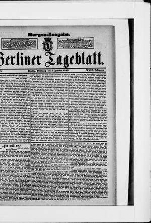 Berliner Tageblatt und Handels-Zeitung vom 01.02.1888