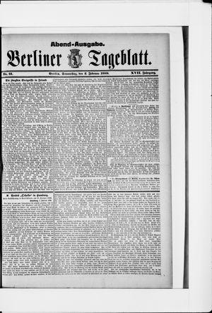 Berliner Tageblatt und Handels-Zeitung vom 02.02.1888