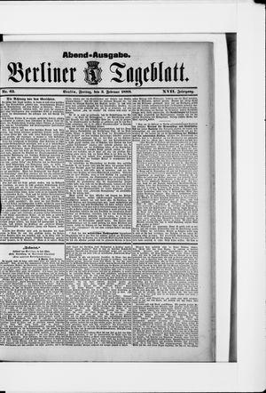 Berliner Tageblatt und Handels-Zeitung vom 03.02.1888