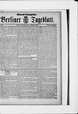 Berliner Tageblatt und Handels-Zeitung vom 04.02.1888