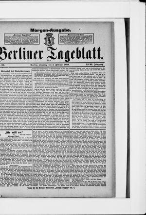 Berliner Tageblatt und Handels-Zeitung vom 05.02.1888