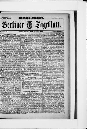 Berliner Tageblatt und Handels-Zeitung vom 06.02.1888