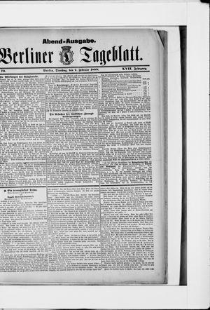 Berliner Tageblatt und Handels-Zeitung vom 07.02.1888