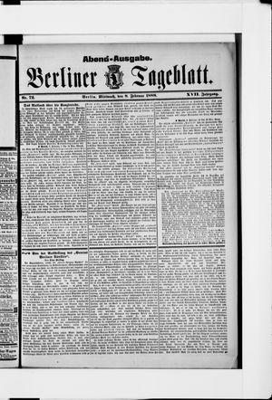 Berliner Tageblatt und Handels-Zeitung vom 08.02.1888
