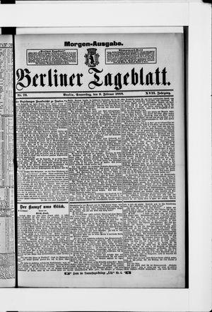 Berliner Tageblatt und Handels-Zeitung vom 09.02.1888