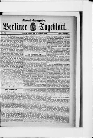 Berliner Tageblatt und Handels-Zeitung vom 10.02.1888