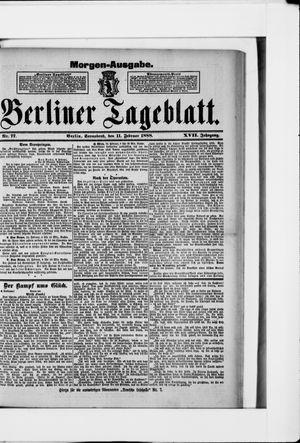 Berliner Tageblatt und Handels-Zeitung vom 11.02.1888