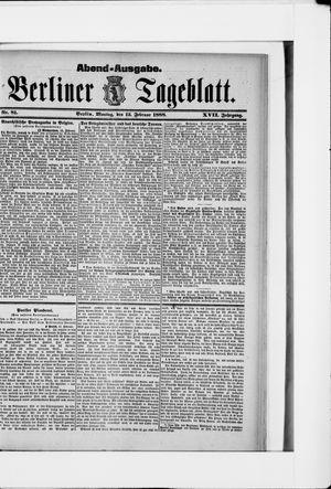 Berliner Tageblatt und Handels-Zeitung vom 13.02.1888