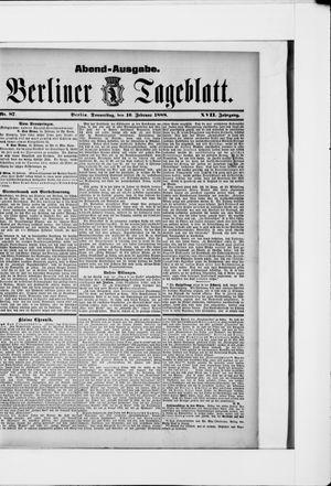 Berliner Tageblatt und Handels-Zeitung vom 16.02.1888