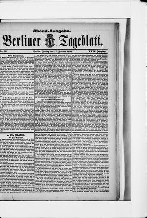 Berliner Tageblatt und Handels-Zeitung vom 17.02.1888