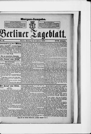 Berliner Tageblatt und Handels-Zeitung vom 19.02.1888
