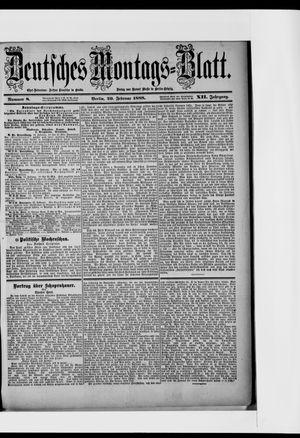 Berliner Tageblatt und Handels-Zeitung vom 20.02.1888