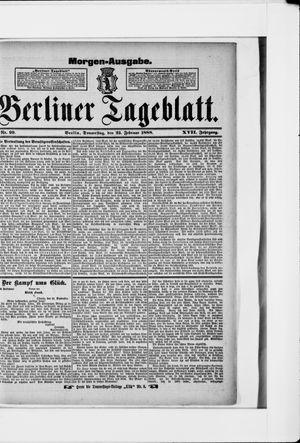 Berliner Tageblatt und Handels-Zeitung vom 23.02.1888