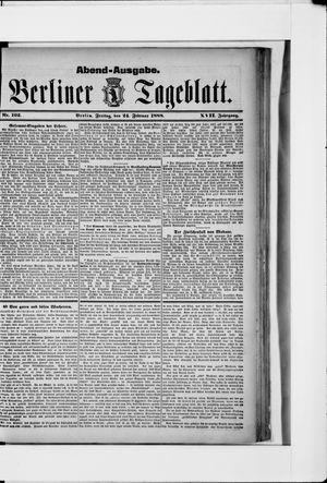 Berliner Tageblatt und Handels-Zeitung vom 24.02.1888