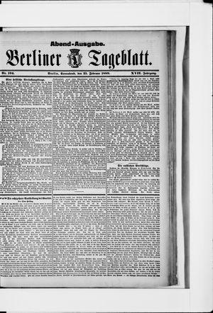 Berliner Tageblatt und Handels-Zeitung vom 25.02.1888