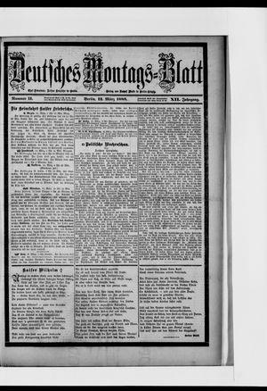 Berliner Tageblatt und Handels-Zeitung vom 12.03.1888
