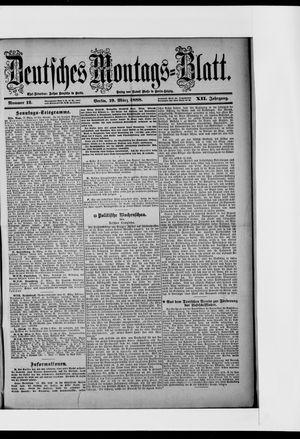 Berliner Tageblatt und Handels-Zeitung vom 19.03.1888