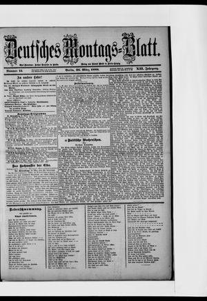 Berliner Tageblatt und Handels-Zeitung vom 26.03.1888