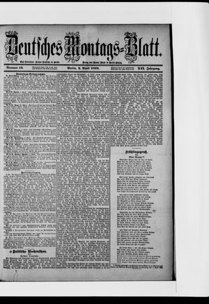 Berliner Tageblatt und Handels-Zeitung vom 02.04.1888